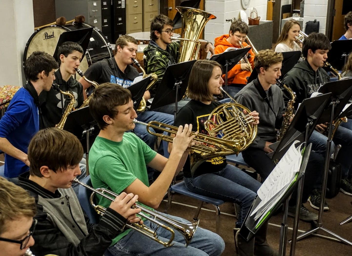 rosman playind donated trumpet