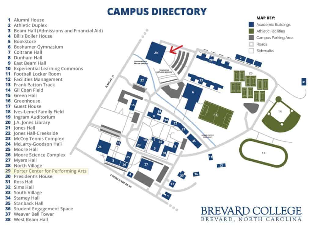 Brevard College Map